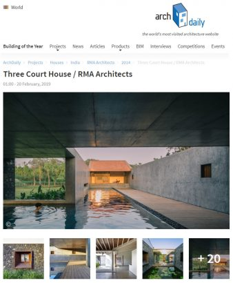 Three Court House Featured on ArchDaily | RMA Architects